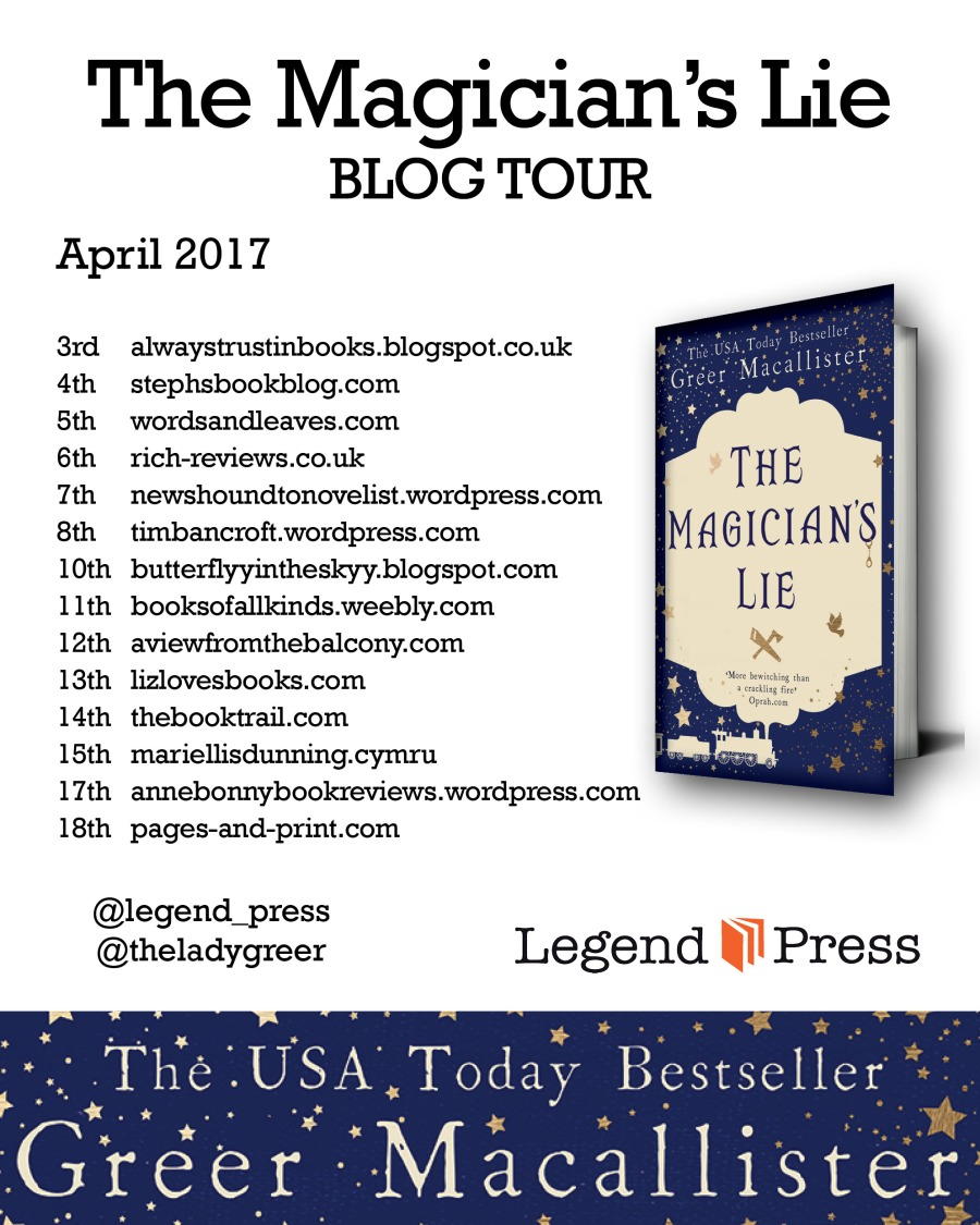 The Magician's Lie Blog Tour Banner