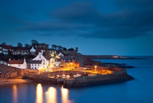 dusk at crail harbour in the east neuk of Fife