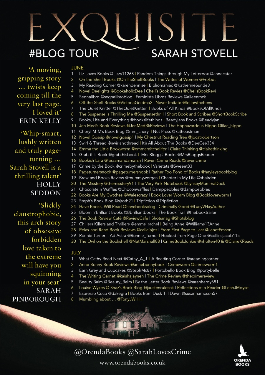Exquisite blog tour poster banner