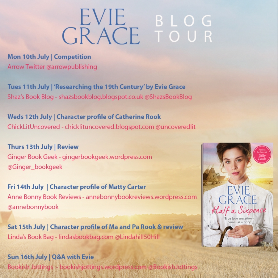 Half a Sixpence - Evie Grace - blog tour