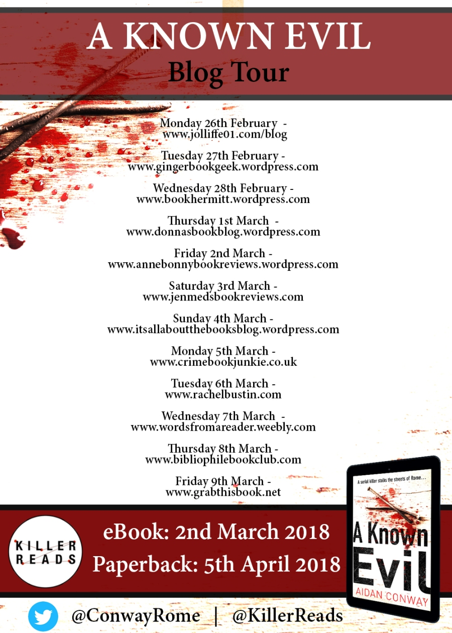 Blog Tour - A Known Evil[1772] BANNER