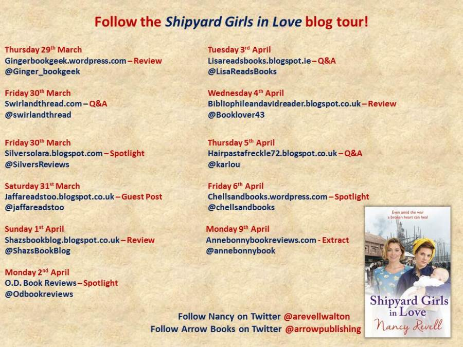 Shipyard Girls in Love Blog Tour Banner