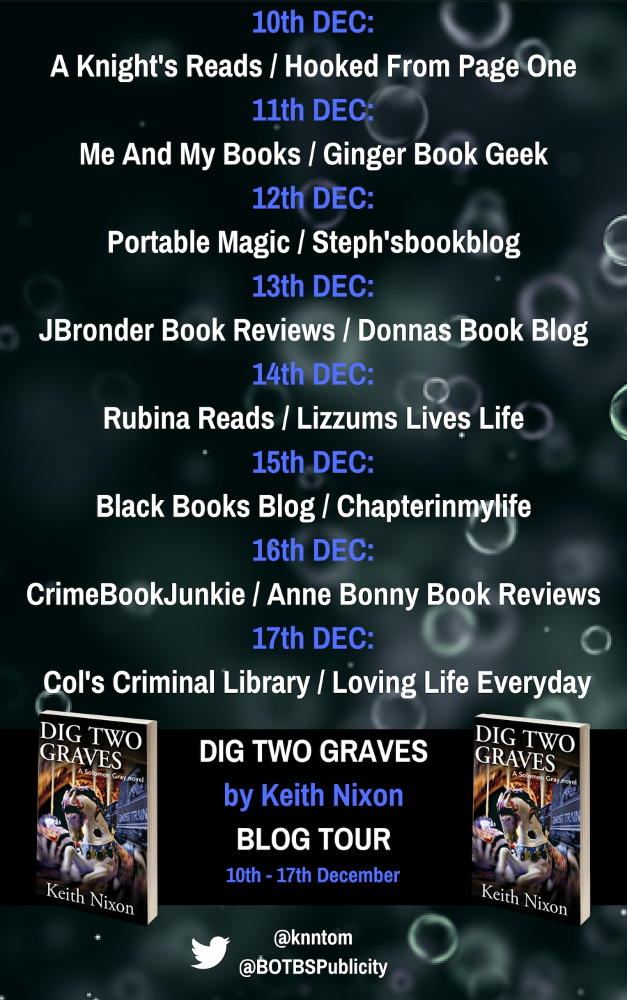 DIG TWO GRAVESby Keith NixonBLOG TOUR (1)