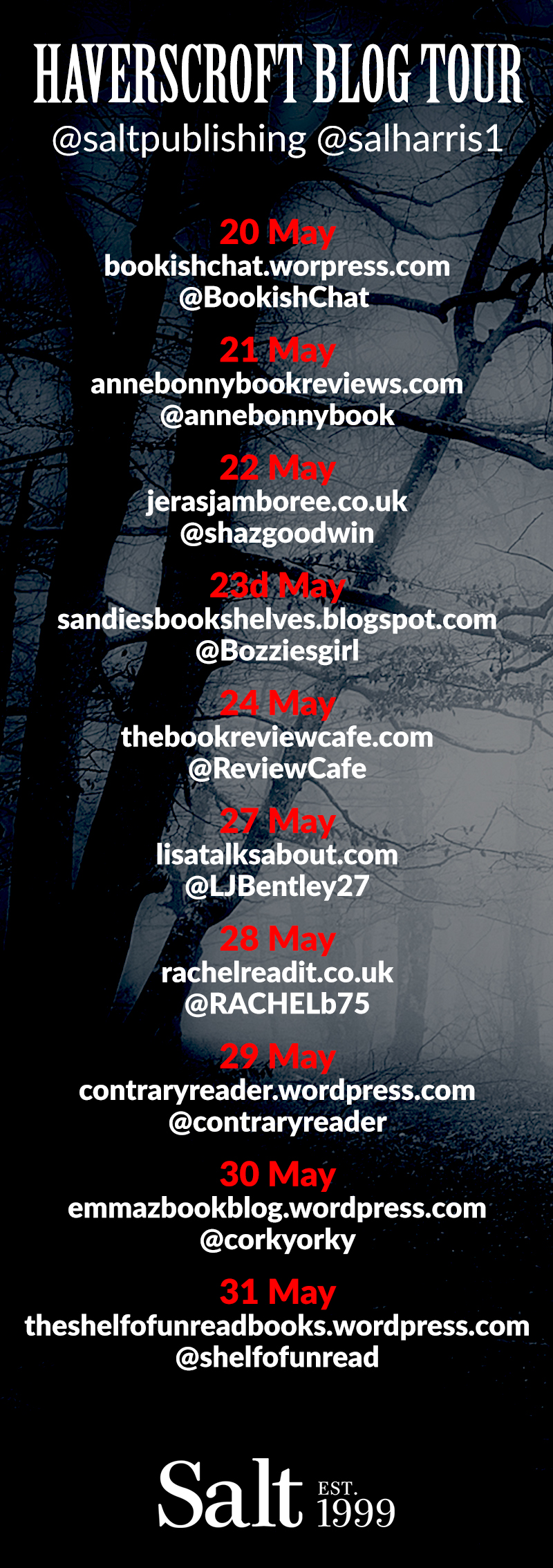 Haverscroft blog tour flyer